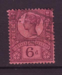 J19729 Jlstamps 1887-92 great britain used #119 queen