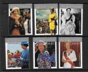 NEW ZEALAND SG2446/51 2001 QUEEN ELIZABETH 75th BIRTHDAY MNH
