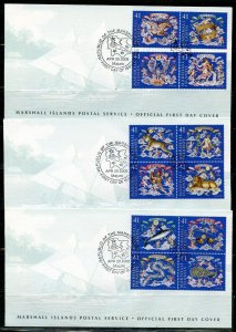 MARSHALL ISLANDS 2008  CONSTELLATIONS SET ON FIVE FIRST DAY COVERS