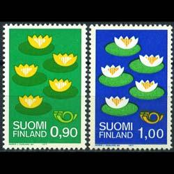 FINLAND 1977 - Scott# 593-4 Water Lilies Set of 2 NH