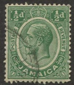 Jamaica -Scott 101 - KGV Definitive -1921 - Used - Single 1/2p Stamp