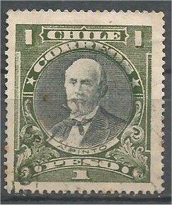 CHILE, 1911, used 1p,  Anıbal Pinto, Scott 109
