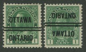 CANADA PRECANCEL OTTAWA 3-104, 3-104-I