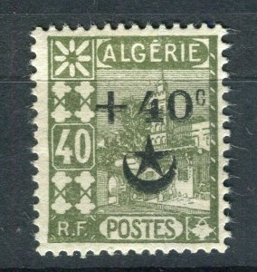FRENCH; ALGERIA 1927 Wounded Soldiers issue fine Mint hinged 40c. value