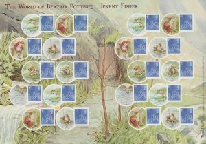 LS60 GB 2009 Beatrix Potter - Hello Jeremy Fisher Smiler sheet UNMOUNTED MINT