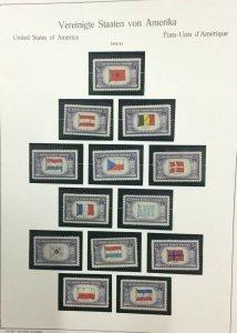 MOMEN: US STAMPS # 5c FLAGS MINT OG NH LOT #39935