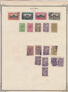 austria early stamps  on album page ref r11463