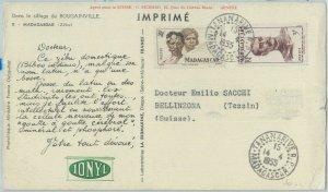 81136 - MADAGASCAR - POSTAL HISTORY - POSTCARD to SWITZERLAND   1955