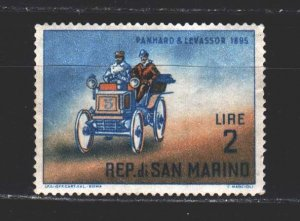 San Marino. 1962. 705 from the series. Antique car. MNH.