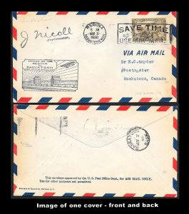 CANADA First Flight Covers (34) all early mostly Postmaster signed
