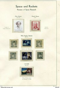 Space & Rockets Worldwide Collection MNH on Lighthouse Hingeless 6 pages 11457