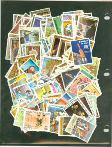 selection Niger 1976-86 used (CTO, MNH) nearly all in complete sets CV $108