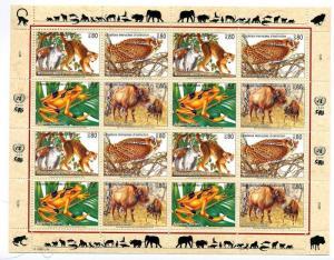 UN Geneva -Scott's # 267a Endangered Species 1995 Sheet -M NH