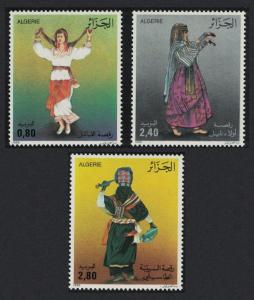 Algeria Folk Dances 3v SG#938-940 MI#921-923