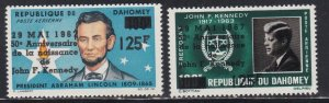 Dahomey # C55-56, John F. Kennedy, NH, 1/2 Cat.