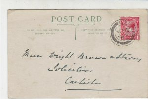 England 1922 Cowes Cancel Thank You One Penny Stamp Card to Carlisle Ref 34923