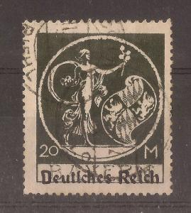 Germany 1920 20M SG136 Fine Used Cat£21