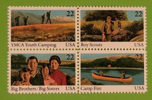 1985 Scott #2160-63 - 22¢ - INTERNATIONAL YOUTH YEAR - Block of Four - Mint NH