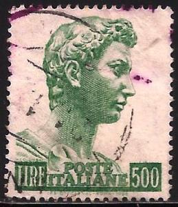 Italy 1957 Scott# 690b perf 14X13.5 Used
