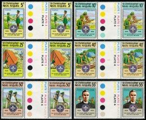 Saint Kitts-Nevis Scott 370-375 Mint never hinged.