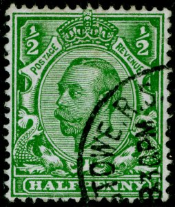 SG339 SPEC N4(1), ½d green, FINE USED, CDS. Cat £40. WMK CROWN