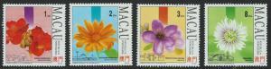 Macau Scott 707-710! Flowers MNH!
