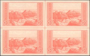 United States #757, Complete Set, Plate Block of 6, Center Line Block, 1935, ...