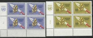 UN-GENEVA # 30-31 Disarmament  M.I.Blocks/4   (2)  Mint NH