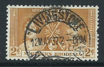 Northern Rhodesia  SG 23 Used short perf  Lovely First da...