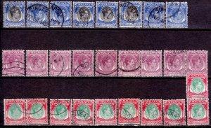 Singapore - #9,11,19 - 1948 - VFU - KGVI - CV$80.00