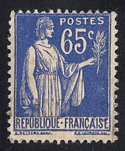 France #271 65C Peace with Olive Branch Stamp used F