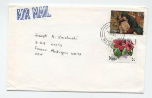 Three 1980s Niue covers to USA airmail [L.195]