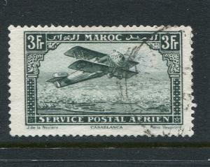 French Morocco #C11 Broken R Variety Used