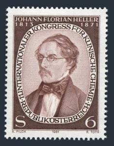 Austria 1183,MNH.Michel 1676. Johann Florian Heller,1981.Pioneer of Urinalysis.
