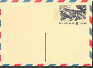 USA # UXC12  Tourist Year  air postal card   Grand Canyon   (1)  Mint  NH