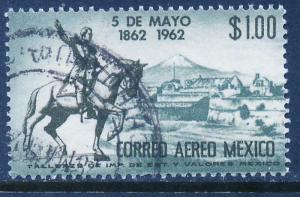 MEXICO C260 Cent of 5 de Mayo Battle at Puebla. Used (656)
