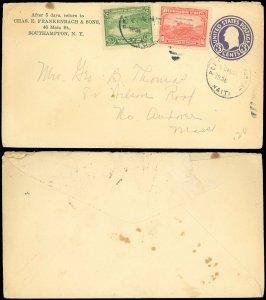 1936 PORT AU PRINCE HAITI Cds, Chas. E. Frankenbach & Sons C/C, Mixed Franking!