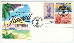 FLUEGEL HAWAII STATEHOOD #2080 Stamp Issue + C55 Airmail + 799 Kamehamea Statue