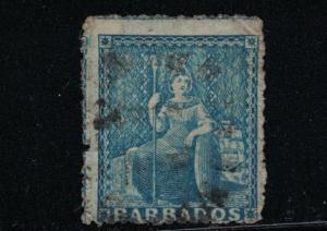 Barbados SC11 Britannia (used)1852-1855