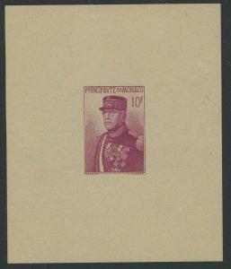 Monaco 1938 10F Prince Louis II S/S Sc# 159 mint
