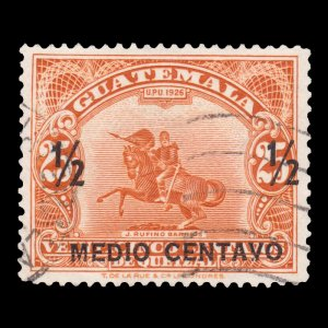 GUATEMALA STAMP 1941 SCOTT # 301. USED.