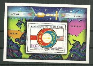 1975 Burkina Faso C219 Apollo Soyuz MNH souvenir sheet