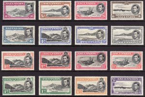 1938 - 1953 Ascension KGVI King George VI complete set MLH Sc# 40 / 49 $202.85