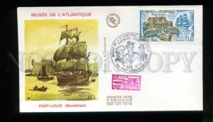 162707 FRANCE 1976 Port-Louis SHIPS SAILBOATS FDC Cover