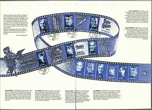 France 1998 Actors of French Cinema issue in special folder with illustrated VFU
