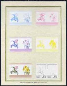 Tuvalu - Nanumaga 1985 Flowers (Leaders of the World) 40c...