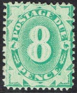 AUSTRALIA 1902 POSTAGE DUE 8D COMPLETE DESIGN