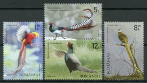 Romania Birds on Stamps 2020 MNH Pheasants Golden Pheasant Fauna 4v Set