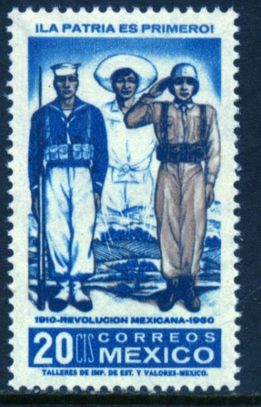 MEXICO 915, 20c 50th Anniv Mexican Revolution. MINT, NH. F-VF.