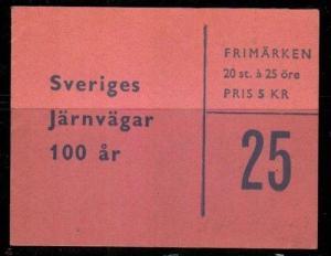 Sweden Scott 498a Mint NH booklet of 20 (Catalog Value $18.00)